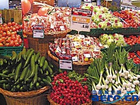 机场里蔬菜卖场