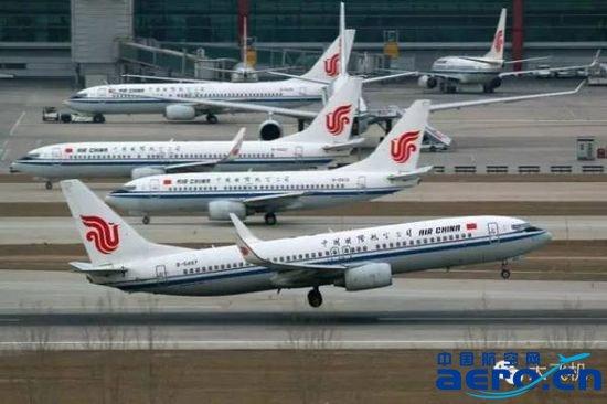 资料图:一架国航的737-800飞机起飞