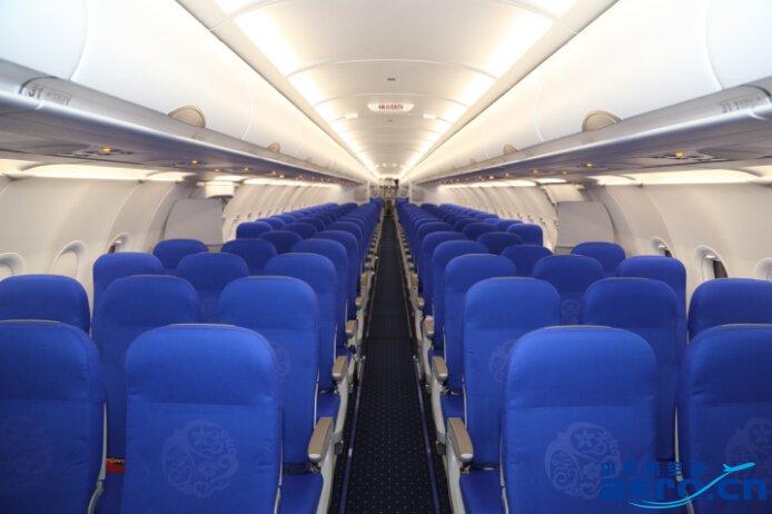 东航山东引进首架空客a-321飞机抵达青岛